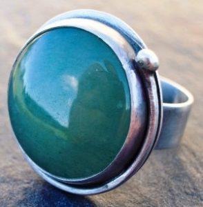 кольцо авантюрин