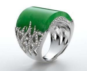 кольцо жадеит