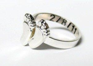 кольцо на рождение детей