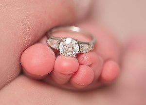 кольцо на рождение ребенка фото