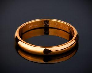 золотое обручальное кольцо cartier