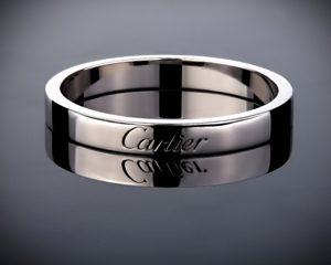 платиновое обручальное кольцо cartier engraved