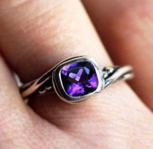 кольцо с аметистом фото