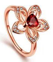 кольцо цветок