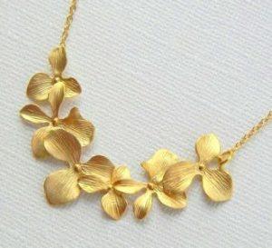 подвеска золотые цветы