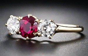 рубин кольцо