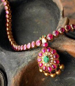 рубин ожерелье