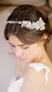 свадебная прическа украшение