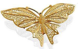 фото золотой броши бабочка