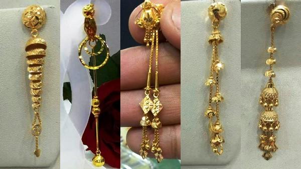 золотые серьги в подарок